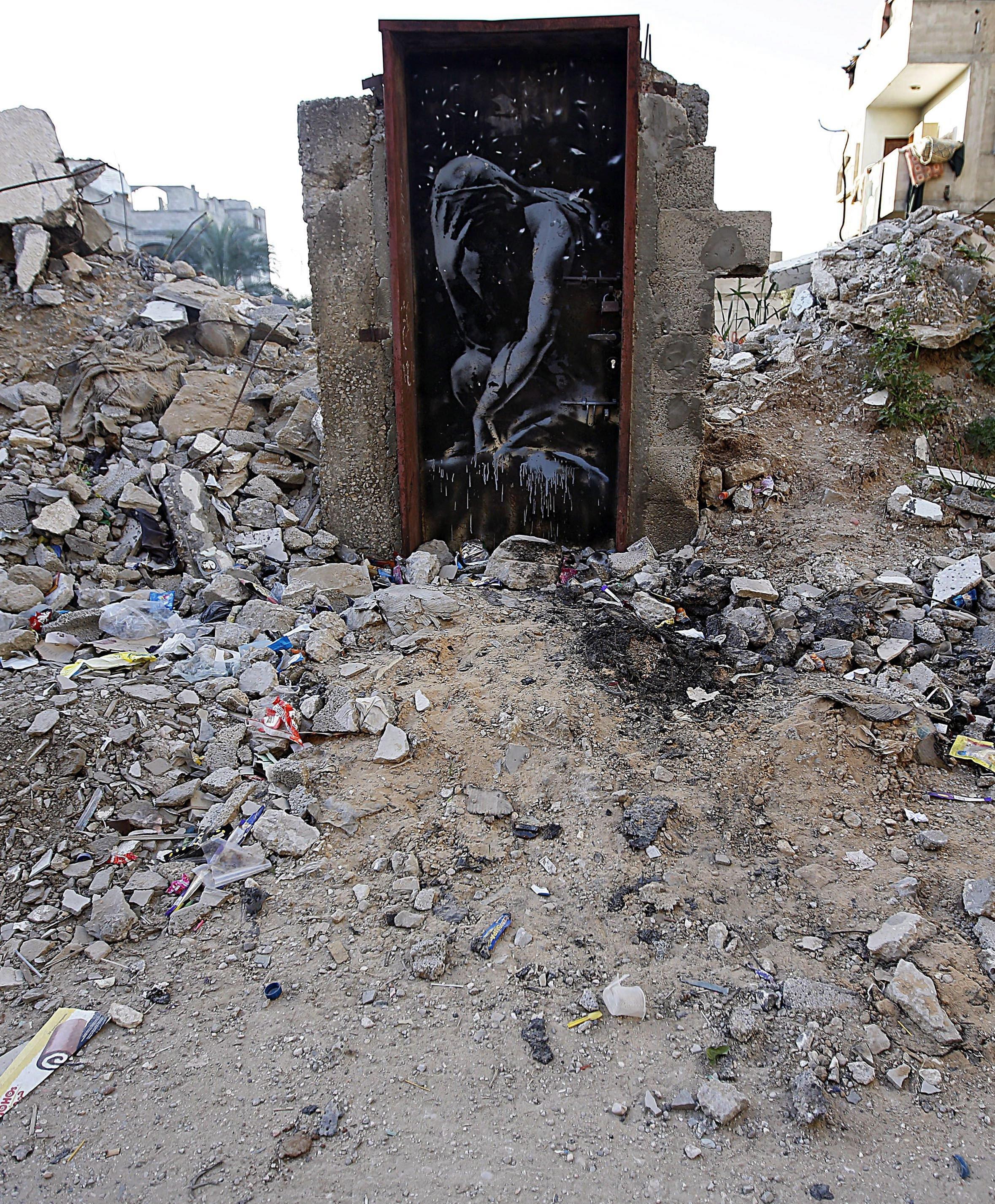 Bagóért vették meg Gázában a világhírű brit graffiti művész alkotását
