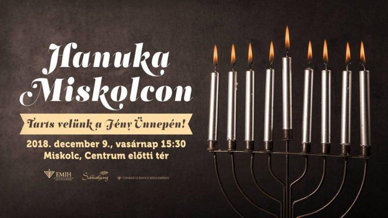 Hanukai gyertyagyújtás: Az EMIH második alkalommal szervez hanukai ünnepséget Miskolcon