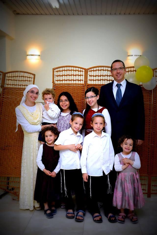 Chana és Naftali a gyerekekkel