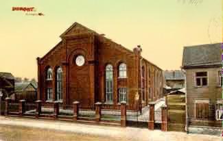 A már nem álló tartui zsinagóga egy régi képeslapon