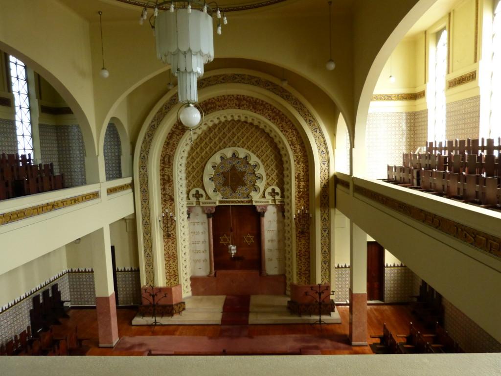 A portói zsinagóga belső tere