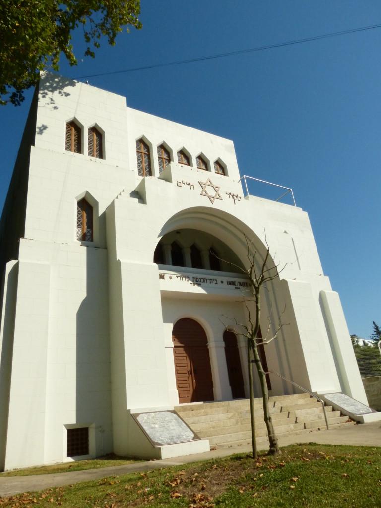 A portói zsinagóga monumentális homlokzata
