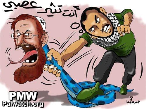 Cartoon glorifies terrorist who attempted to murder Rabbi Yehuda Glick