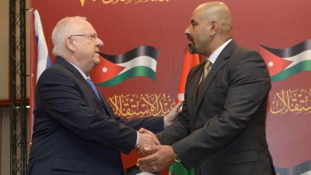 Reuvén Rivlin államelnök Jordánia izraeli nagykövetével