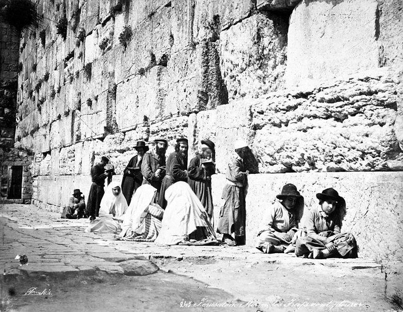 Jews_at_Western_Wall_by_Felix_Bonfils,_1870s