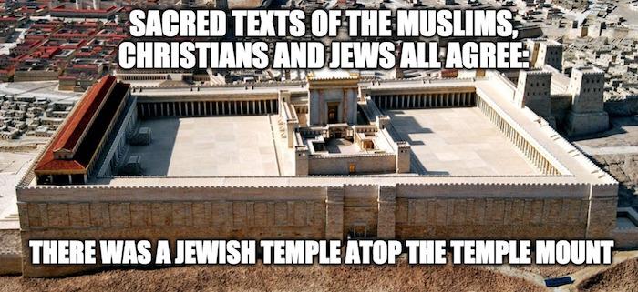 A muszlimok, a keresztények és a zsidók szent iratai megegyeznek abban, hogy a Templom-hegy tetején állt a zsidó Szentély