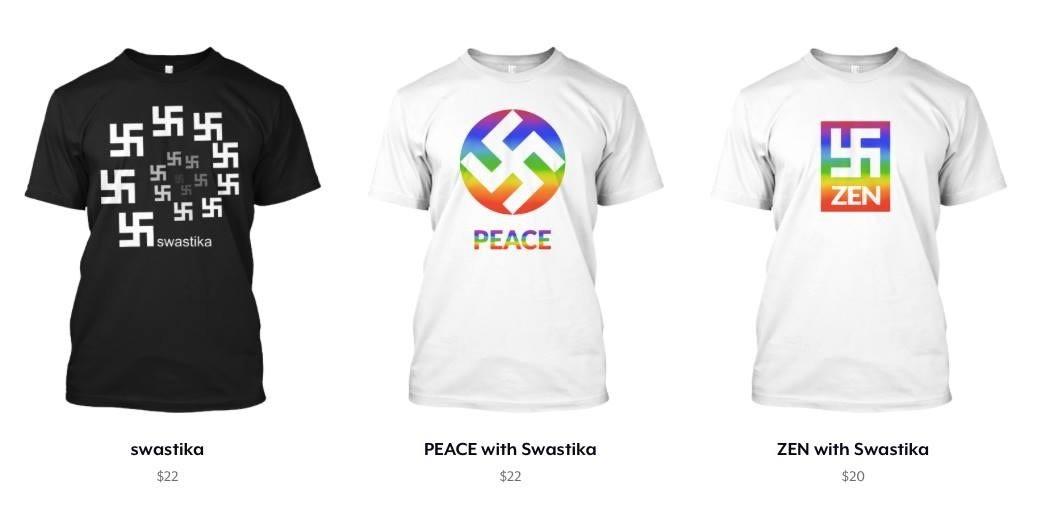 """Horogkeresztes pólóival """"terjesztene békét"""" egy amerikai ruhaüzlet"""