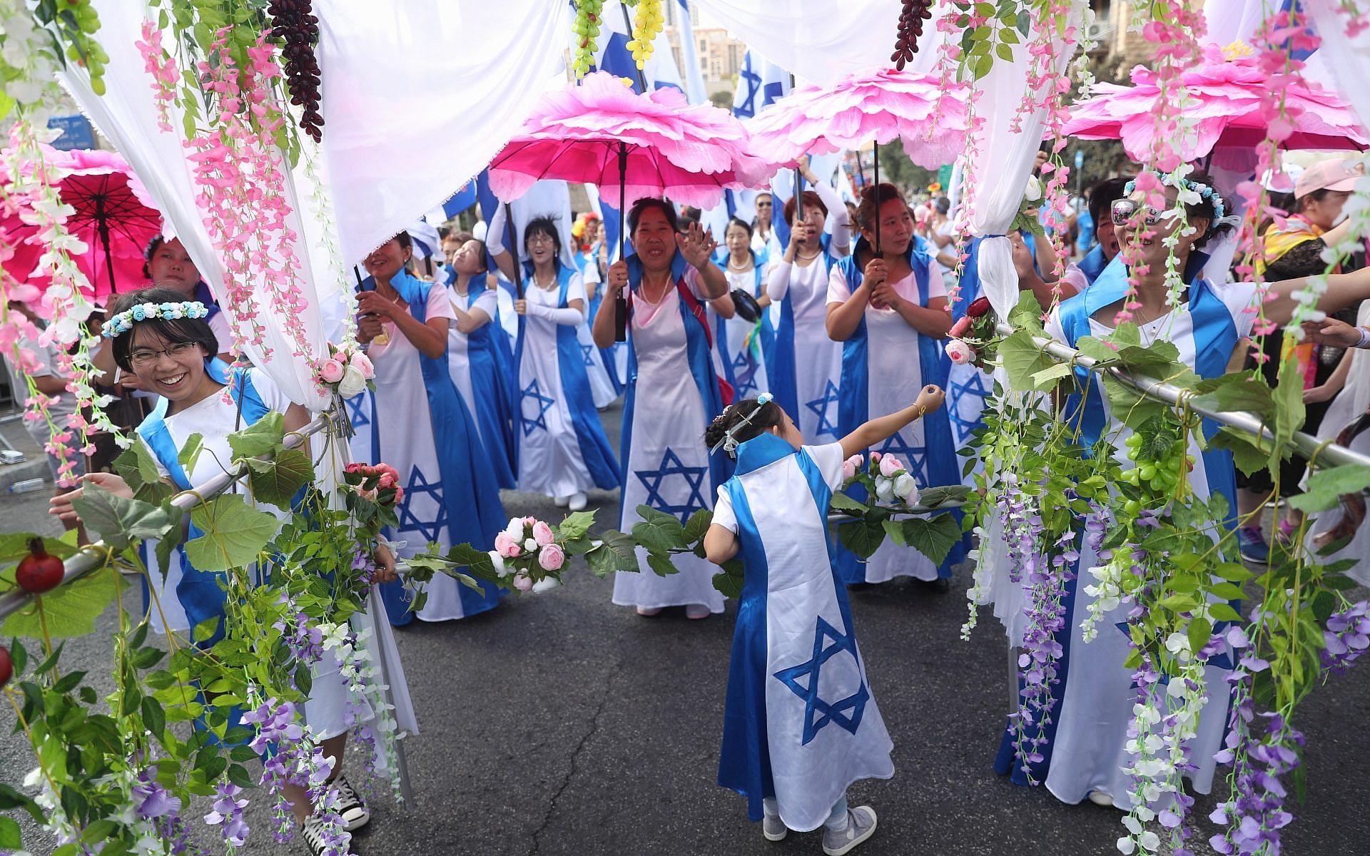 Tízezrek meneteltek a Jeruzsálemi Felvonuláson