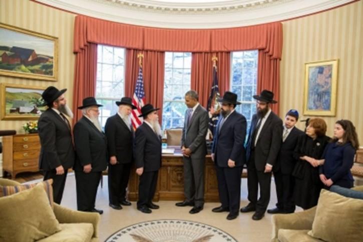 Chábád küldöttséget fogadott Obama a Fehér Házban