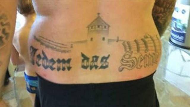 Auschwitzot ábrázoló tetoválás miatt indíthatnak eljárást Németországban