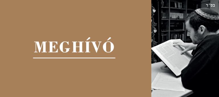 Meghívó: Új magyar Talmud-fordítás