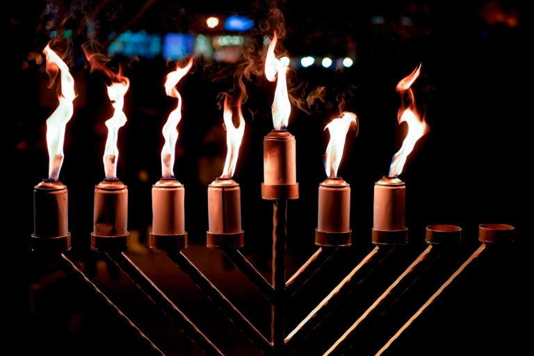 21. hanukai gyertyagyújtás a Nyugati téren