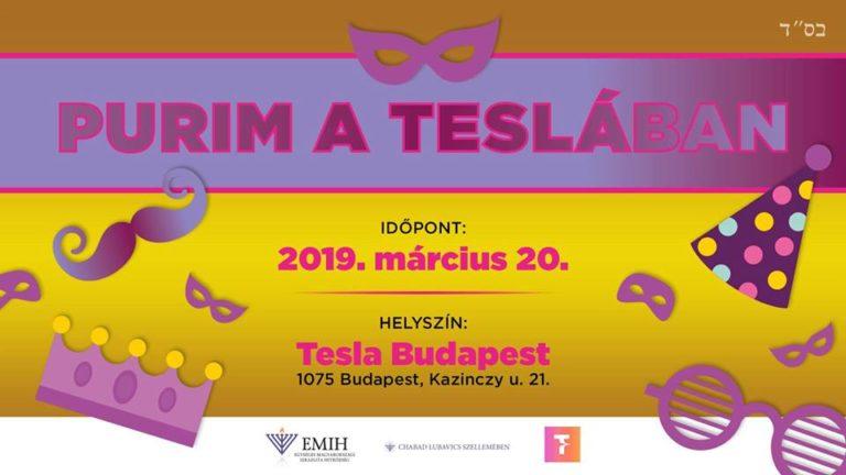 Purim Party a Tesla Budapestben