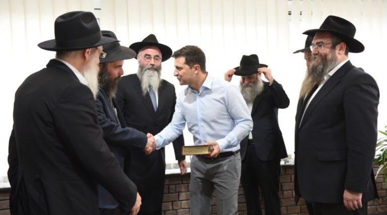 Chábád rabbikkal találkozott az új ukrán elnök