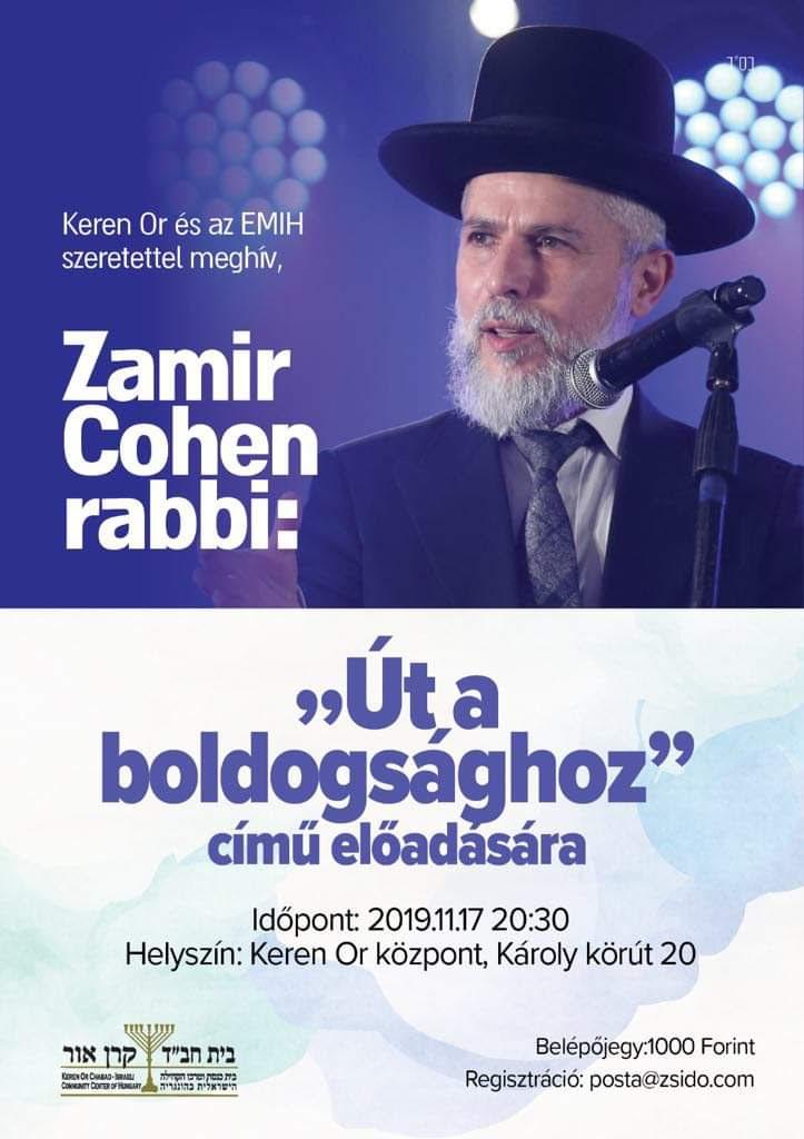 """Zamir Cohen: """"Út a boldogsághoz"""" előadása"""