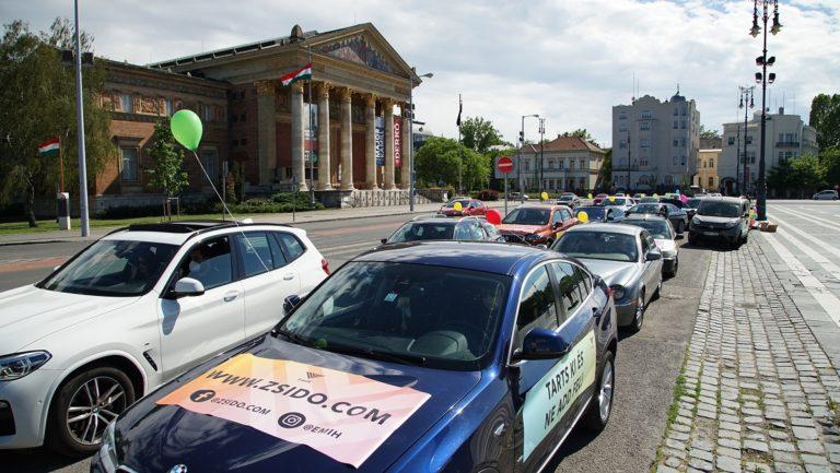 Autós felvonulással ünnepelt Lág Báómer napján az EMIH
